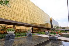 Golden exterior Building of Nobu hotel at City of Dreams in Manila Stock Images