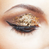 Golden eye makeup Stock Photography