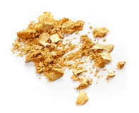 Golden eye shadow Royalty Free Stock Image