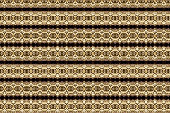 Golden eyes. An amazing pattern combining different geometries in gray, gold and black, of a unique elegance as if it were oriental Royalty Free Stock Images