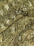 Golden fabric. Rought golden fabric texture suitable as background Stock Photo