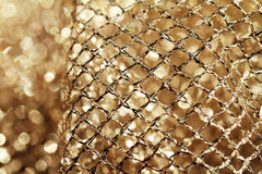 Golden fabric Royalty Free Stock Photos