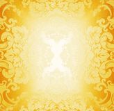 Golden fabric pattern Stock Photos