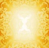 Golden fabric pattern Stock Photos