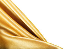 Golden Fabric silk Royalty Free Stock Images