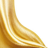 Golden Fabric silk Stock Images