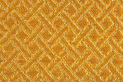 Golden fabric texture Royalty Free Stock Images
