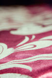 Golden fabric texture. Red fabric with golden line texture Royalty Free Stock Photography