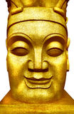 A golden face. Royalty Free Stock Images
