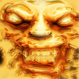 Golden face Royalty Free Stock Images