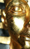 The Golden Face. Close up portrait shot of a egyptian prop Royalty Free Stock Photography