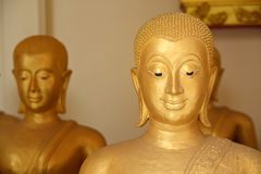 The golden face of buddha Royalty Free Stock Photography