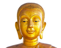 Golden face of buddha Royalty Free Stock Photo