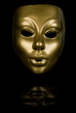 Golden Face Mask Royalty Free Stock Photography