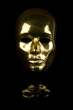 Golden Face Mask Royalty Free Stock Images