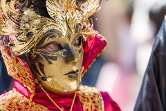Golden Face Royalty Free Stock Photography