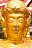 Golden face statue Royalty Free Stock Image