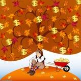 Golden fall stock illustration