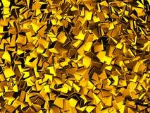 Golden Falling Blocks Wallpaper Background. 3d Render Illustration Vector Illustration