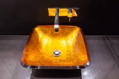 Golden fancy basin Royalty Free Stock Photos