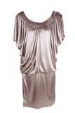 Golden fashionable feminine gown Stock Image
