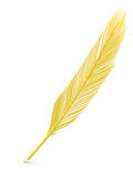 Golden feather quill Stock Image