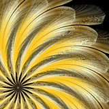 Golden Feathers Stock Photography