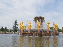Golden female sculpture fountain at ENEA Royalty Free Stock Photography