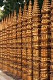 Golden fence. Under the bodhy tree in KLataragama, Sri Lanka Stock Photo