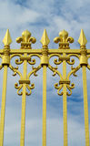 Golden fence with ornament Stock Photography