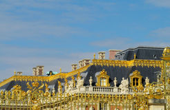 Golden fence with ornament in Versailles palace Stock Image