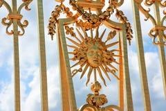 Golden fence of Versaille Stock Photos