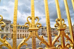 Golden Fence Of Versailles Palace Detail Royalty Free Stock Photography