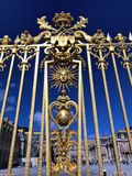 Golden fence of the Versailles Palace stock photo
