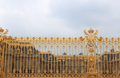 Golden Fence Versailles Palace Paris France Royalty Free Stock Photo