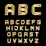 Golden festive alphabet font letters Stock Image