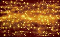 Golden festive background. Glittery golden festive background with stars Royalty Free Stock Photo