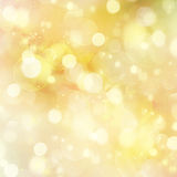 Golden Festive background. With light beams and flares Royalty Free Stock Image