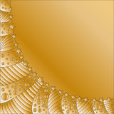 Golden festive background. With stripes, dots and stars Royalty Free Stock Images