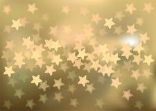 Golden festive lights in star shape, vector Royalty Free Stock Images