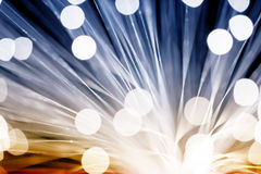 Golden fibre optic Stock Photo