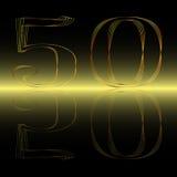 Golden Fifty Reflection Stock Photos