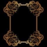 Golden filigree frame for design Royalty Free Stock Photos