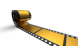 Golden film stripe 1 Royalty Free Stock Photo