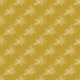 Golden fir branches decor seamless pattern. Vector illustration for your design Royalty Free Stock Photo