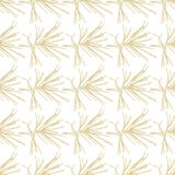 Golden fir branches decor seamless pattern. Vector illustration for your design Stock Photography