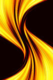 Golden fire. Illustration of gold-fire element Stock Photography