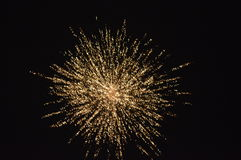 Golden FIRE WORK shot Stock Photography