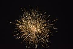 Golden FIRE WORK shot Stock Photography