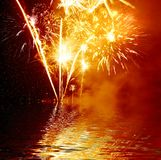 Golden Firework Royalty Free Stock Image